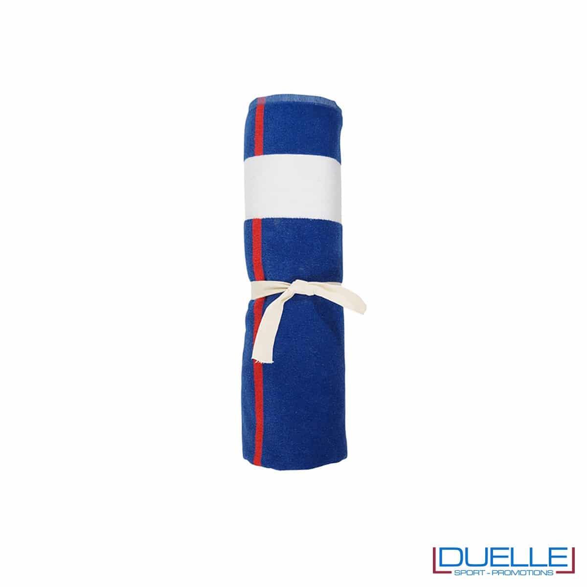 Asciugamano mare in cotone riciclato e fibra SEAQUAL made in Europe