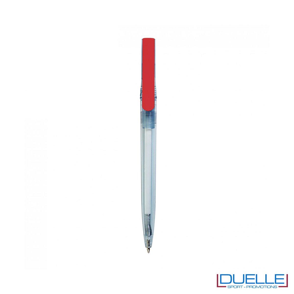 Penna in R-pet 100% riciclata clip colore rosso