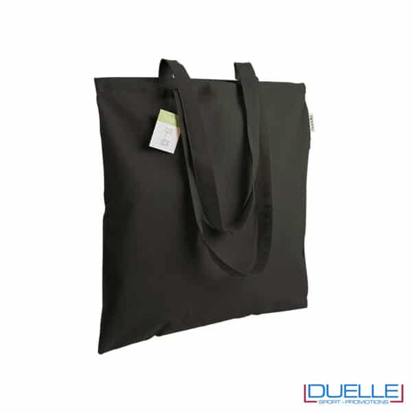 shopper nera in cotone promozionale