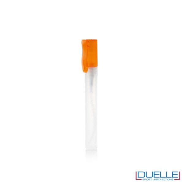 spray igienizzante personalizzato con tappo colore arancione