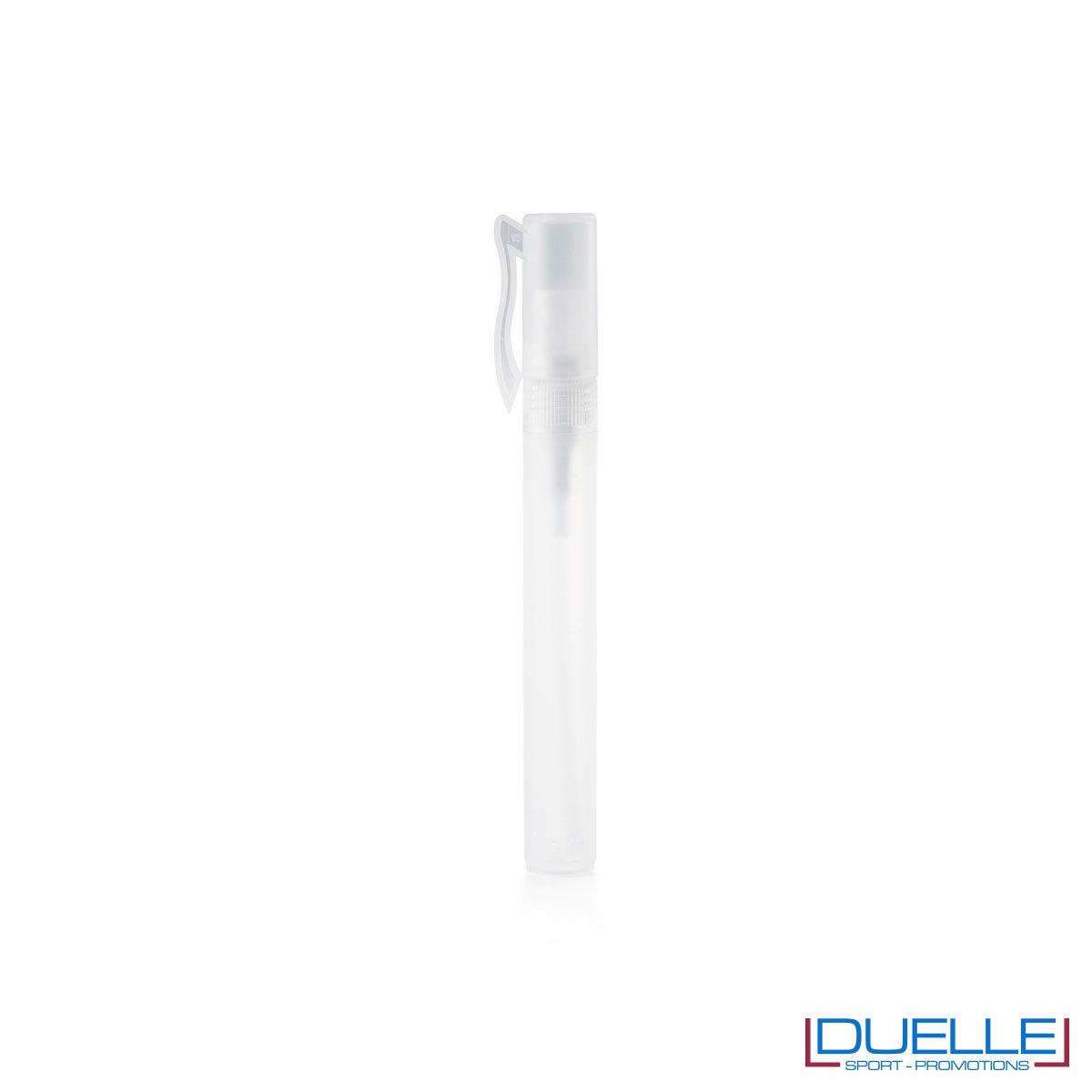 spray igienizzante personalizzato con tappo colore bianco