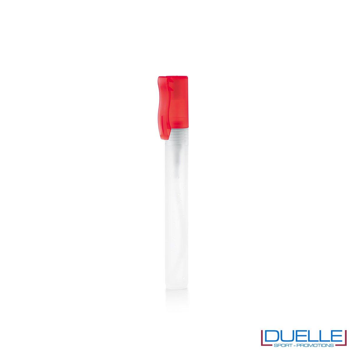 spray disinfettante personalizzato con tappo colore rosso