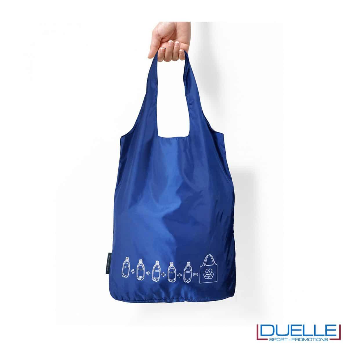 Shopper spesa in PET riciclato 5 bottiglie per una shopper