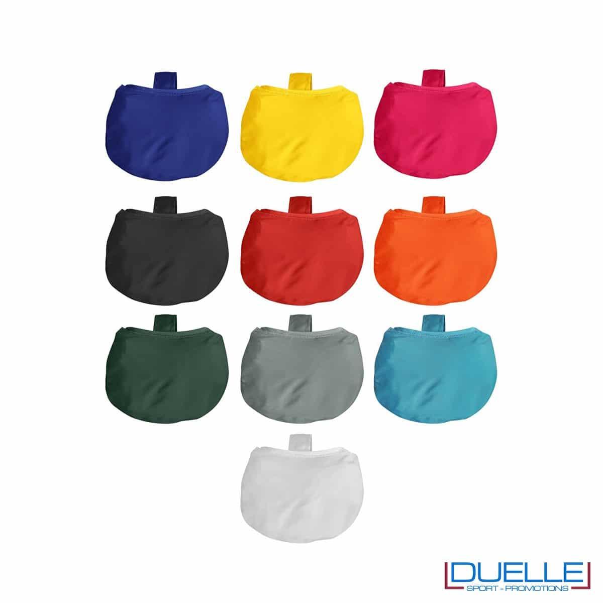 Shopper ripiegabili in R-pet personalizzabili con stampe colorate