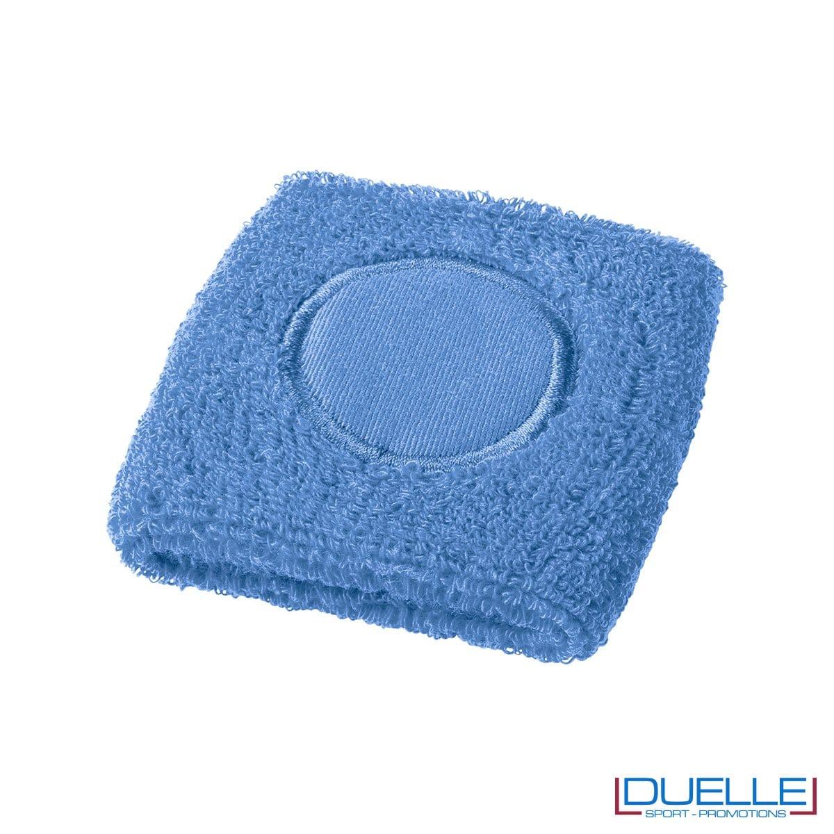 Polsino tergisudore spugna colore azzurro personalizzato