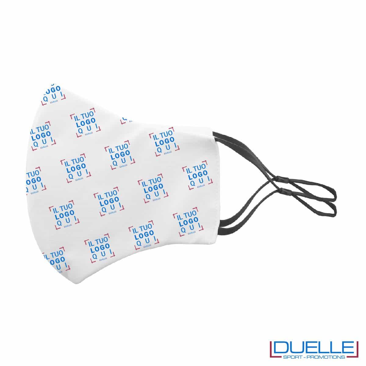 Mascherina doppio strato personalizzata con elastici regolabili