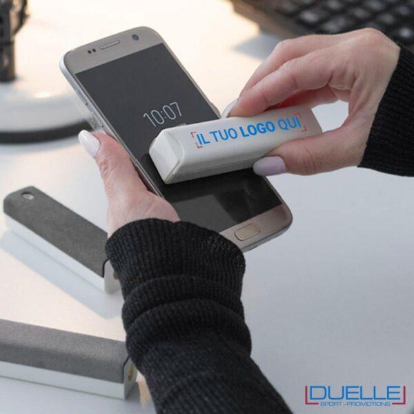 Igienizzante spray con microfibra per pulizia smartphone