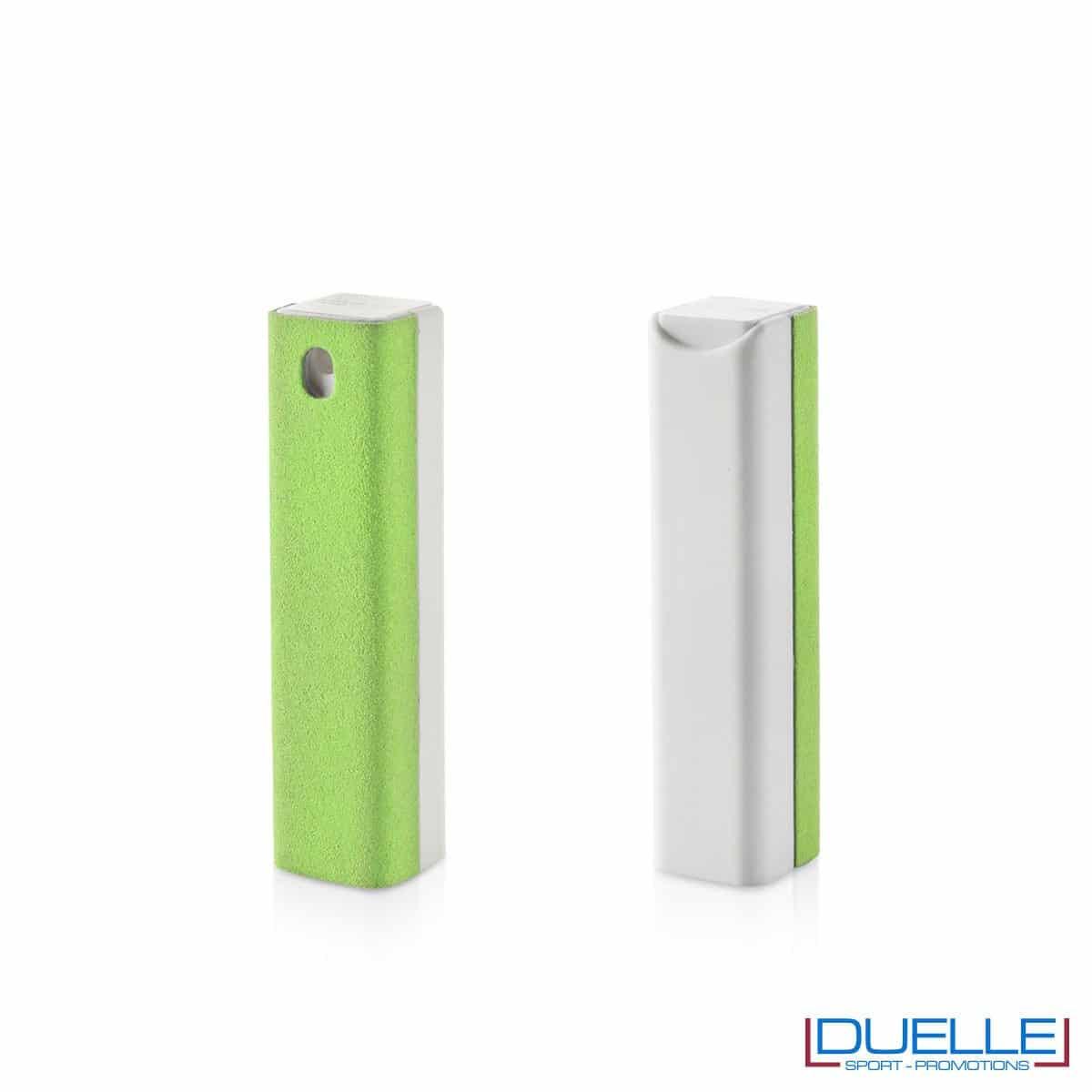 spray per la pulizia di device personalizzabile con stampe, colore verde