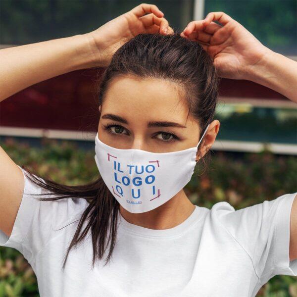 mascherine protettive stampate con logo a colori