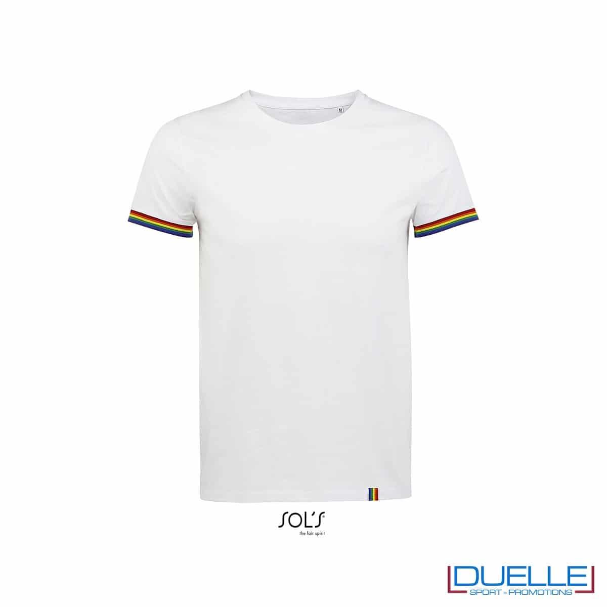 T-shirt girocollo cotone bordino rigato personalizzata