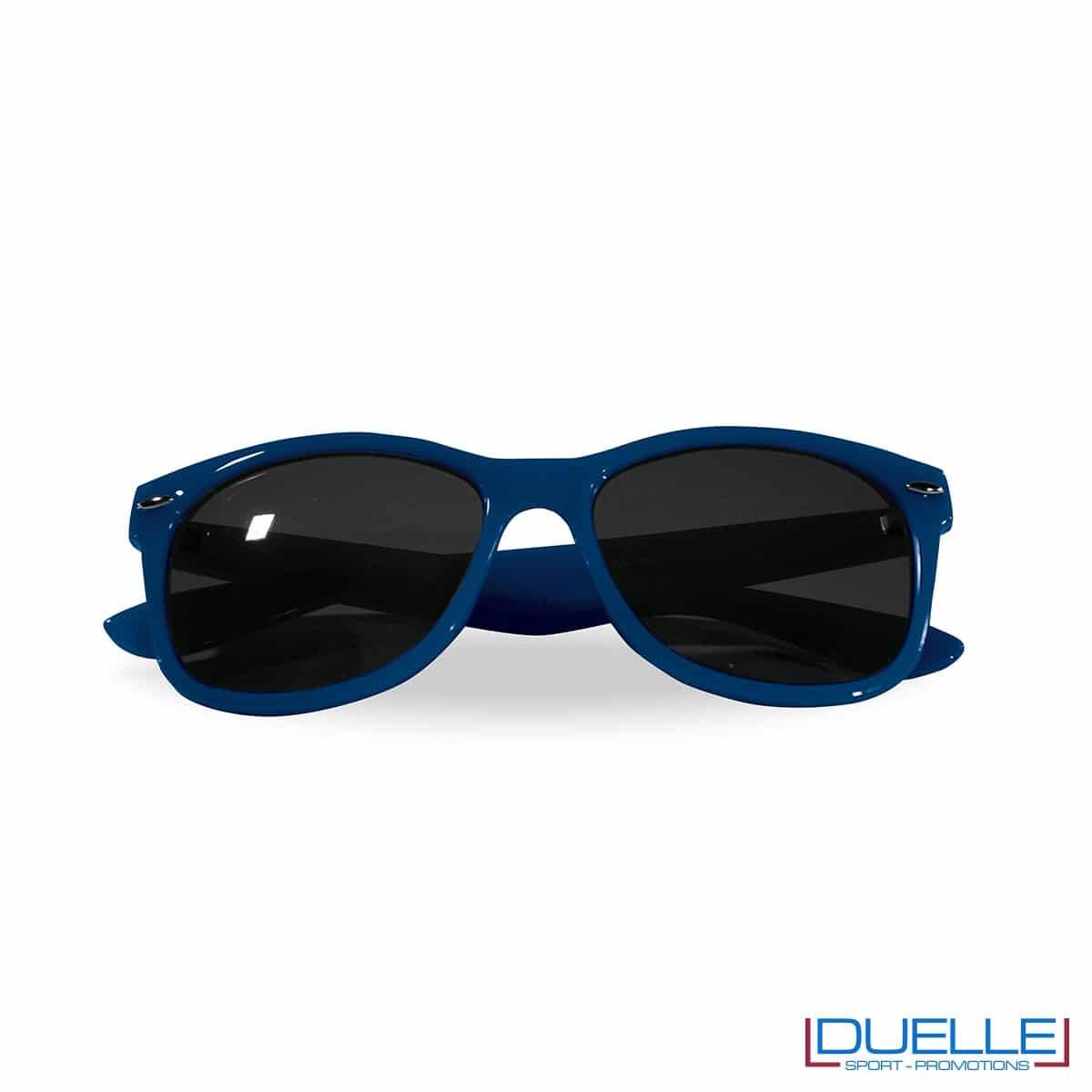 occhiali da sole personalizzati colore rosso, gadget estate personalizzati colore blu