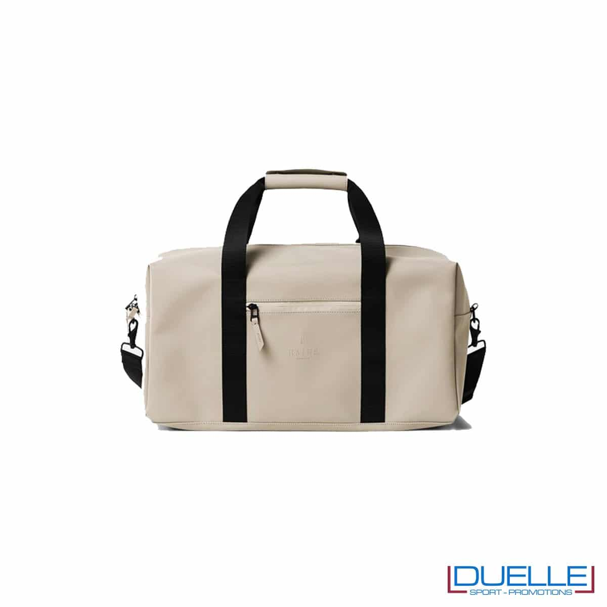 gym bag rains beige personalizzata