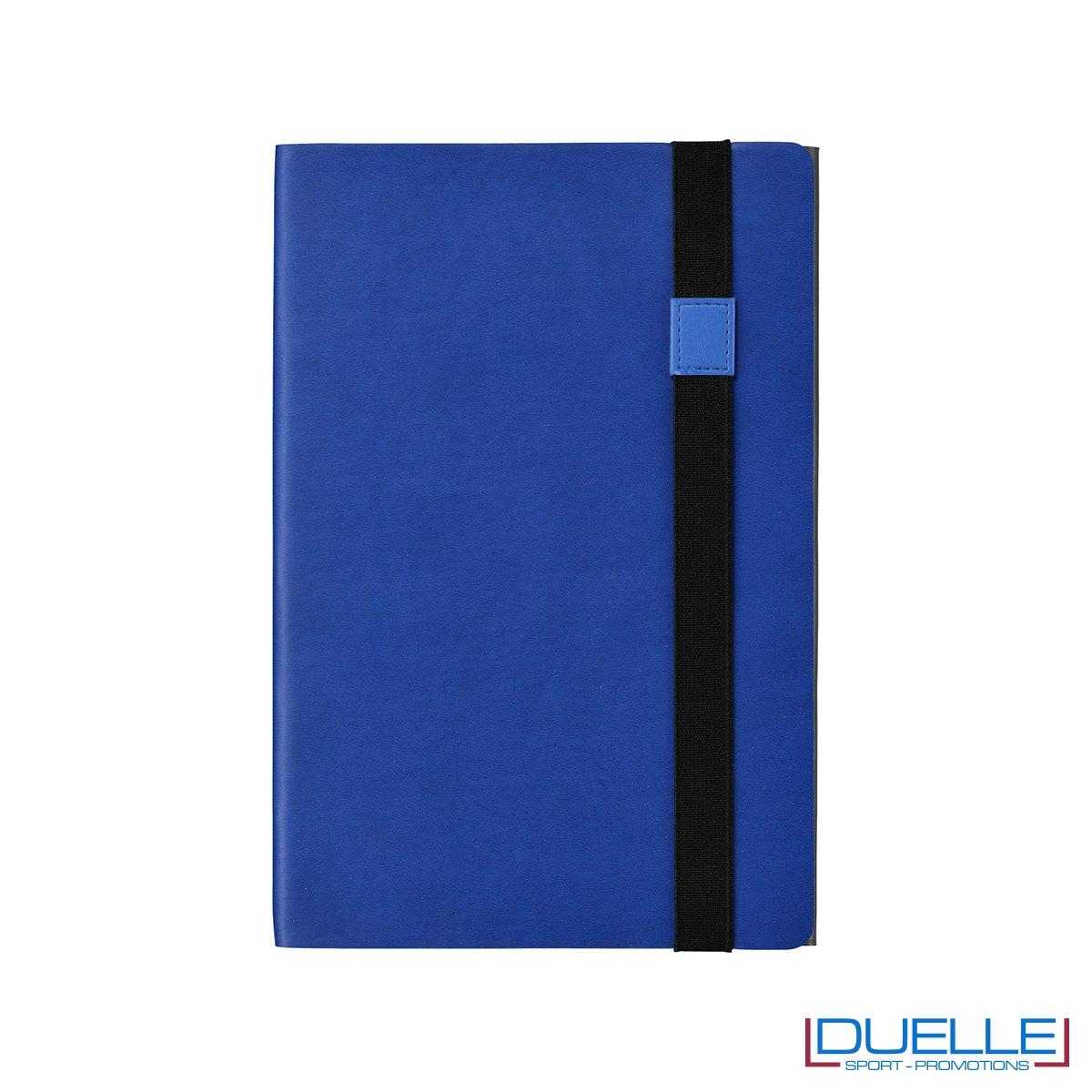 blocco appunti personalizzato double face blu navy e grigio