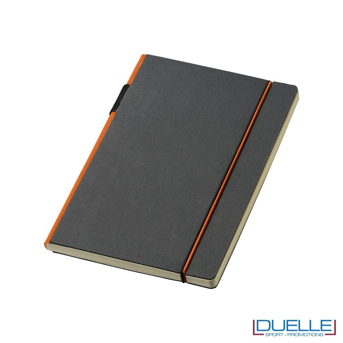 block notes journalbooks con elastico arancione