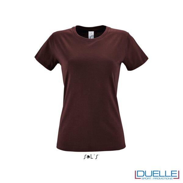 Maglietta donna colore rosso bordeaux personalizzata