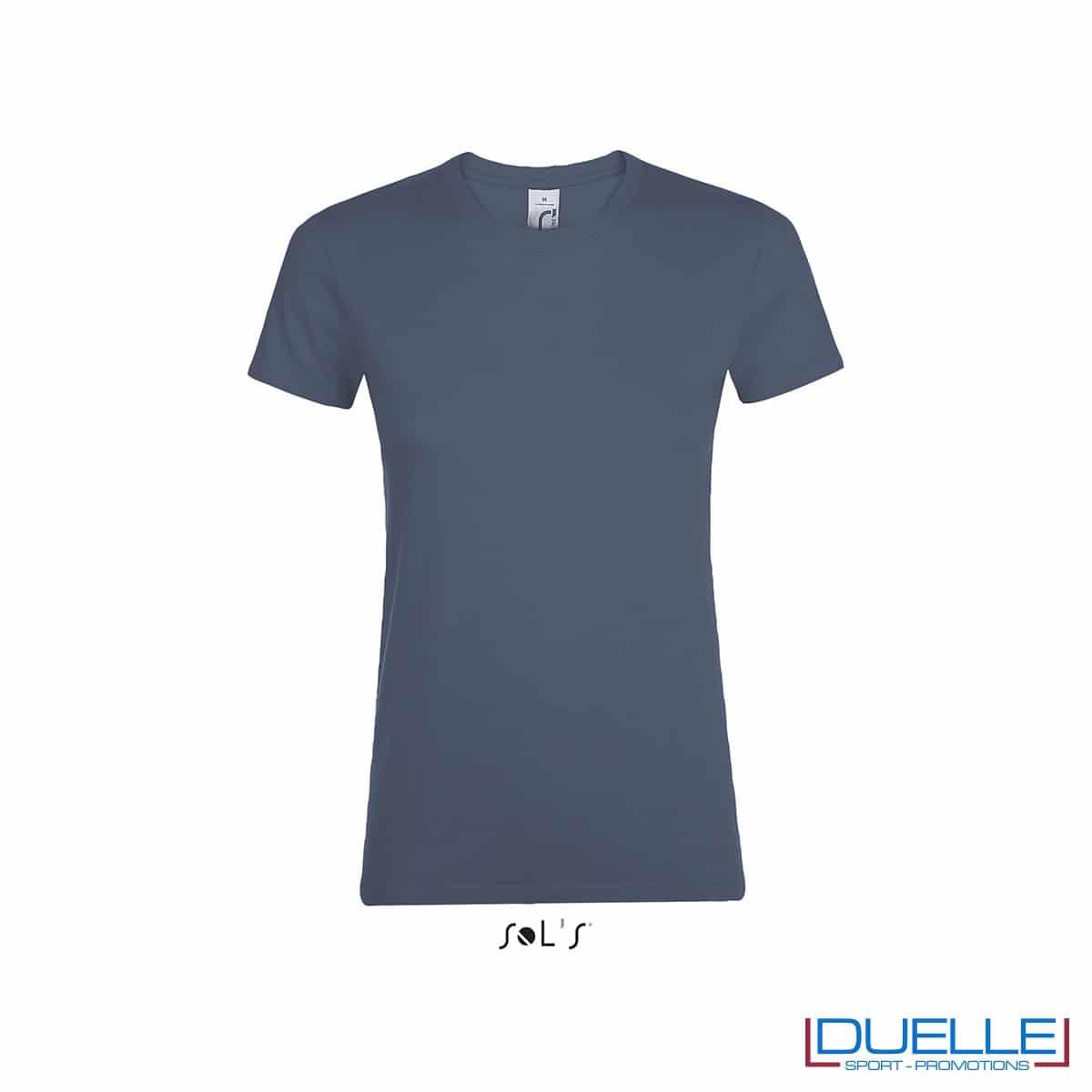 tshirt personalizzata da donna in colore denim