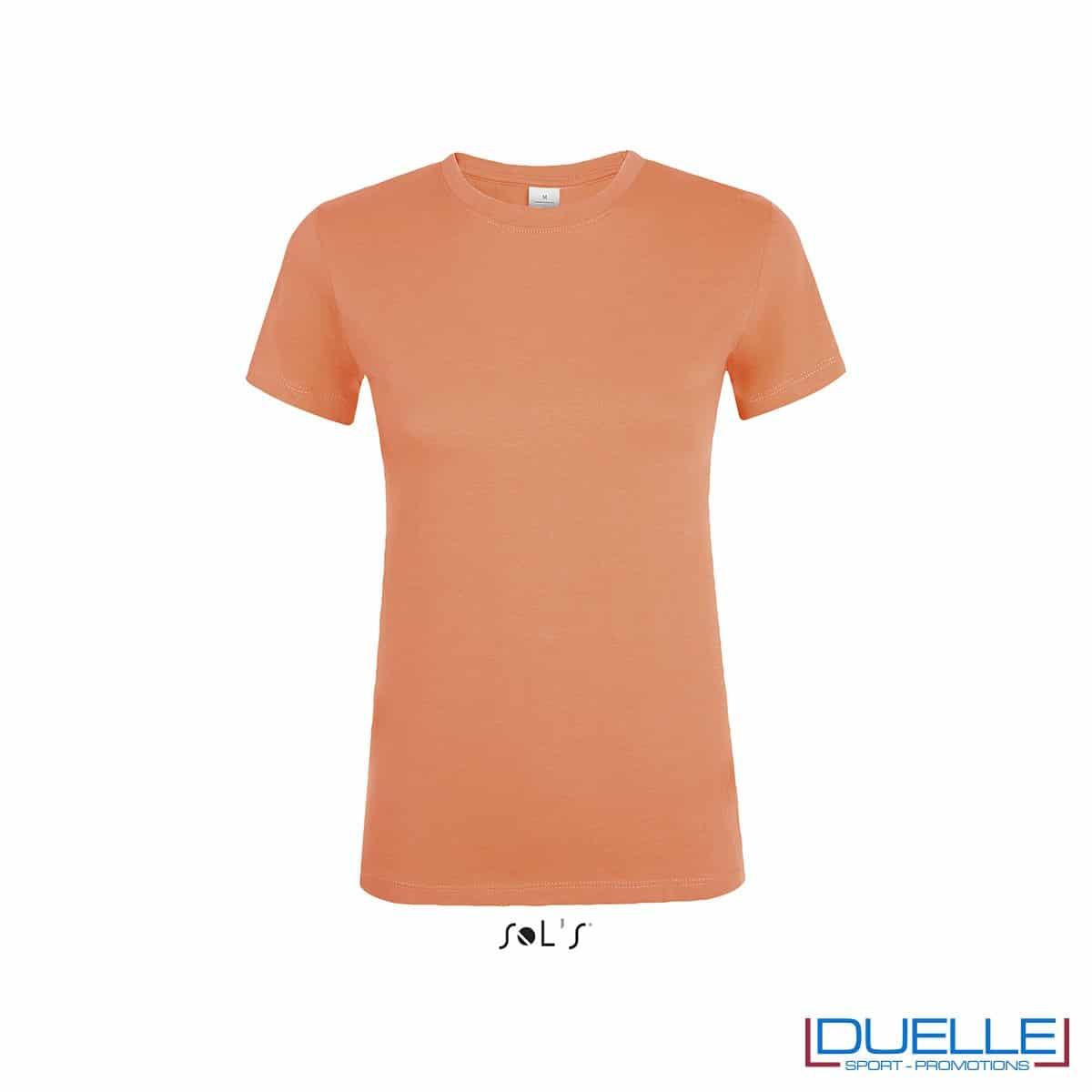 Maglietta personalizzata economica in colore albicocca da donna