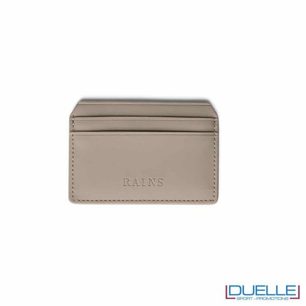 porta carte di credito personalizzato rains in colore talpa