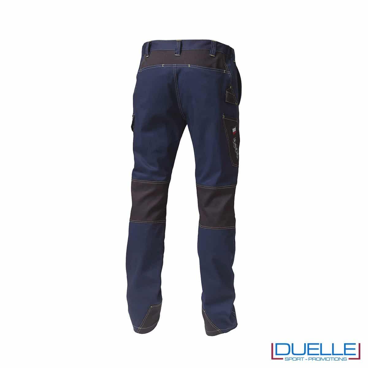 Pantalone da lavoro personalizzato BLU retro