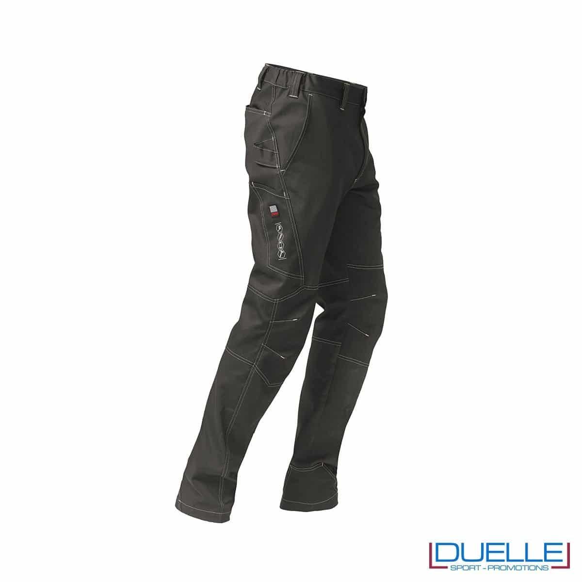 Pantalone perofessionale personalizzato in colore grigio vista 3/4