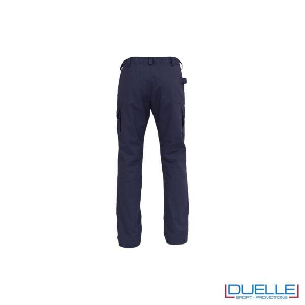 Pantalone da lavoro personalizzato AMSTERDAM colore blu retro
