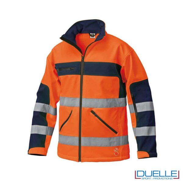 softshell personalizzato per alta visibilità in colore arancione