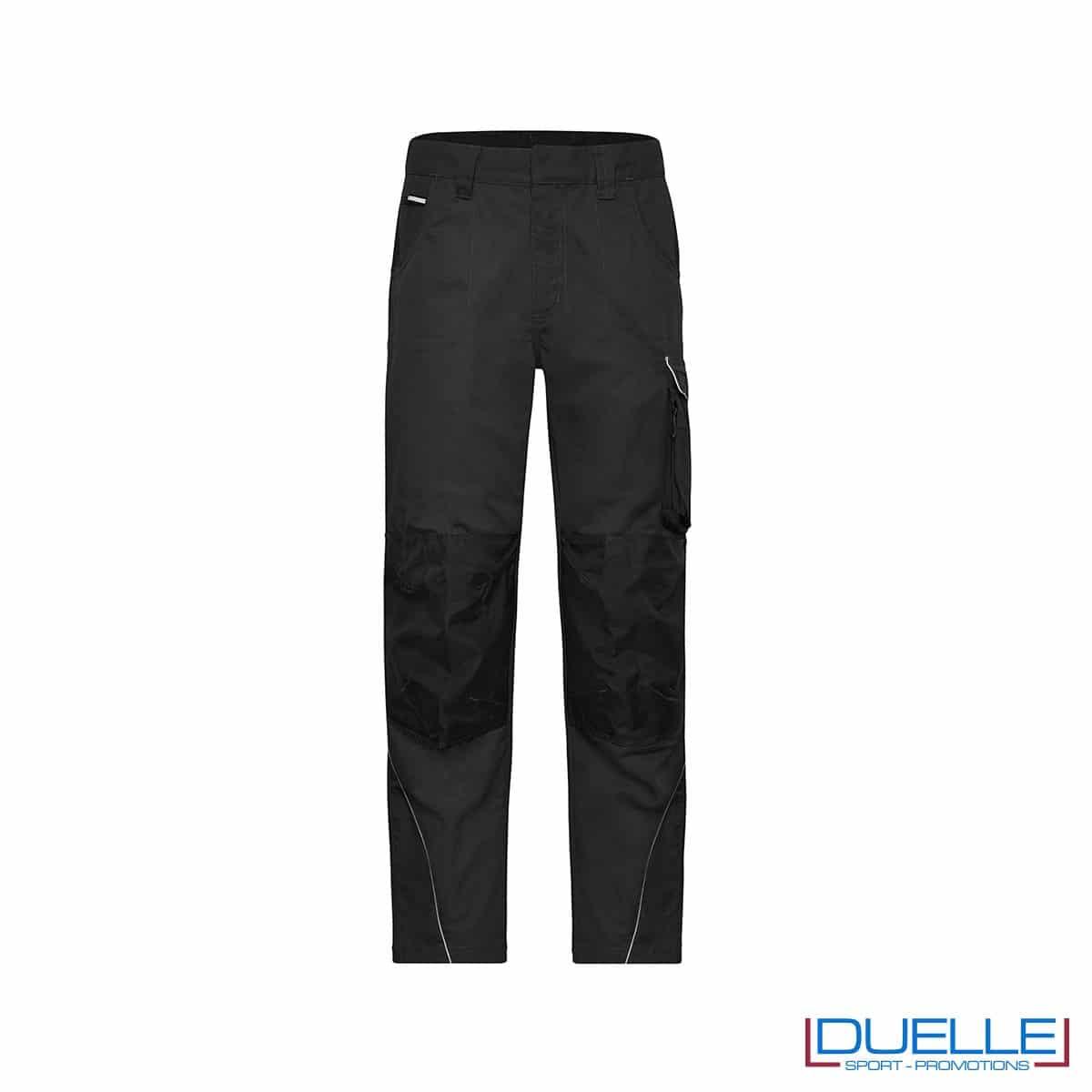 pantalone lungo da lavoro personalizzato in colore nero