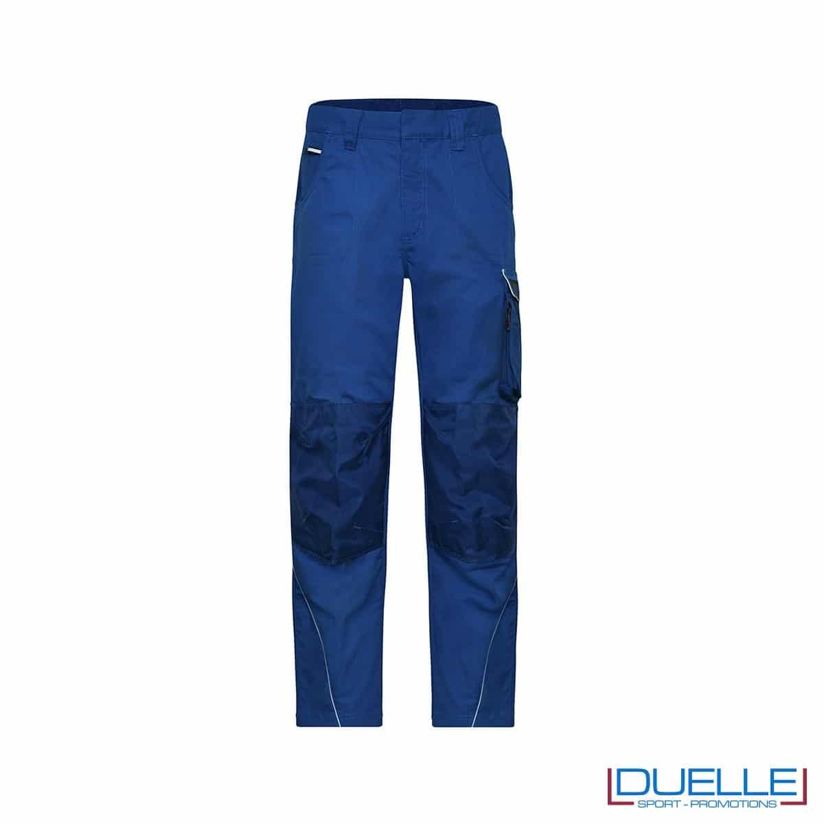 pantalone lungo da lavoro personalizzato in colore blu royal