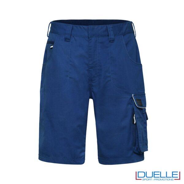 Bermuda da lavoro personalizzate in colore blu royal