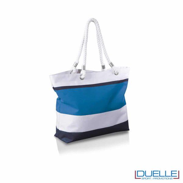 borsa mare in colore azzurro personalizzata