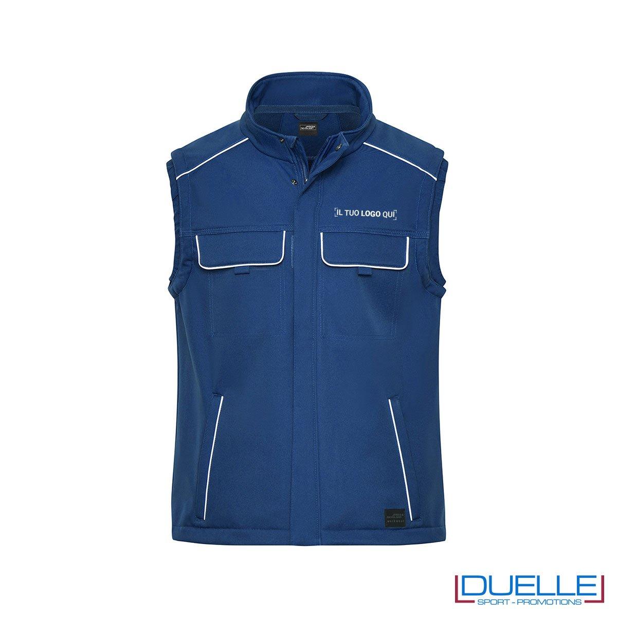 Gilet da lavoro personalizzato blu royal