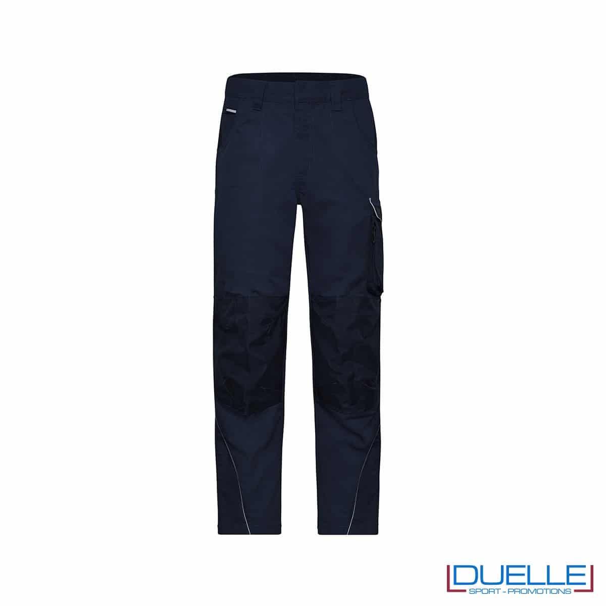 pantalone lungo da lavoro personalizzato in colore blu navy