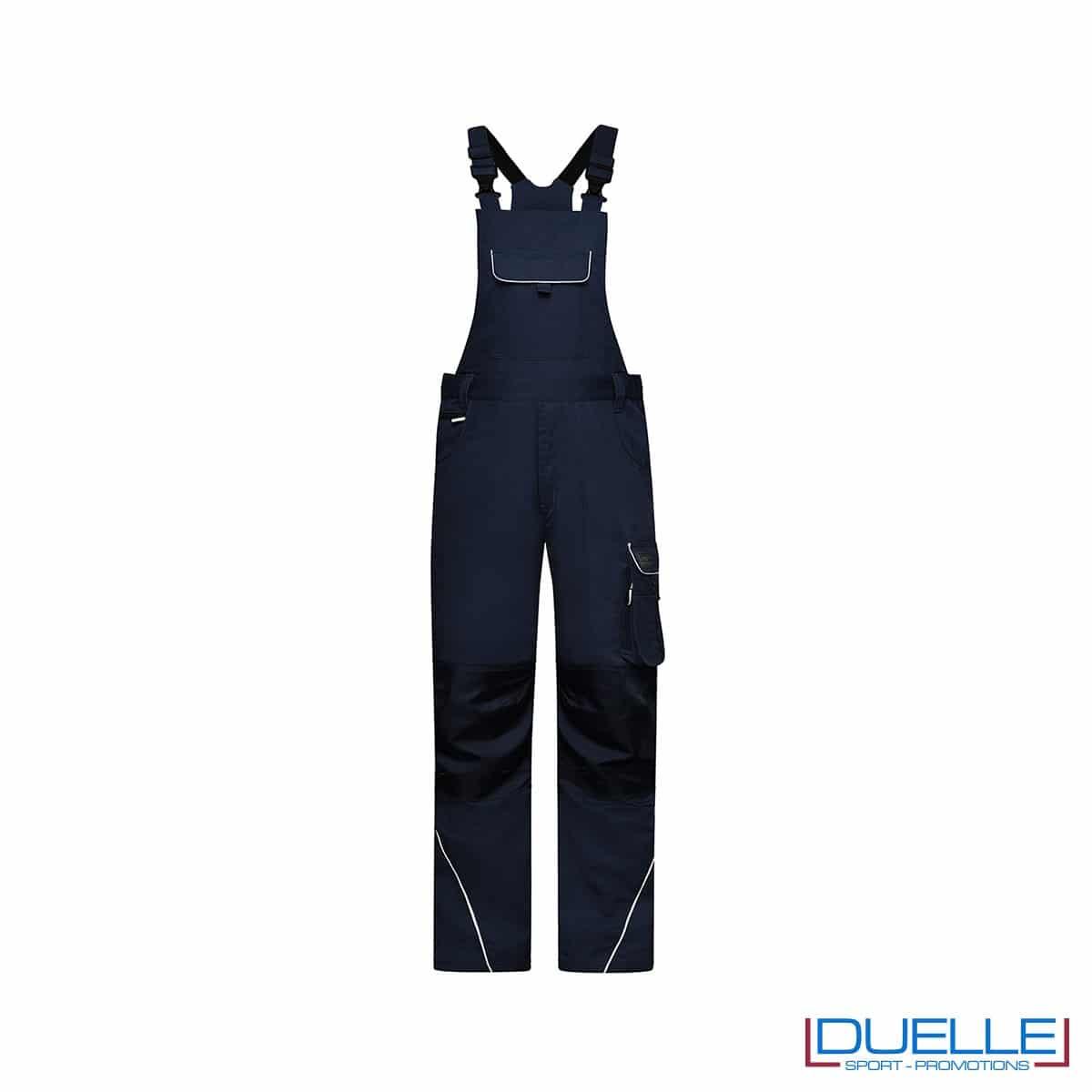 Pettorine da lavoro personalizzate colore blu navy
