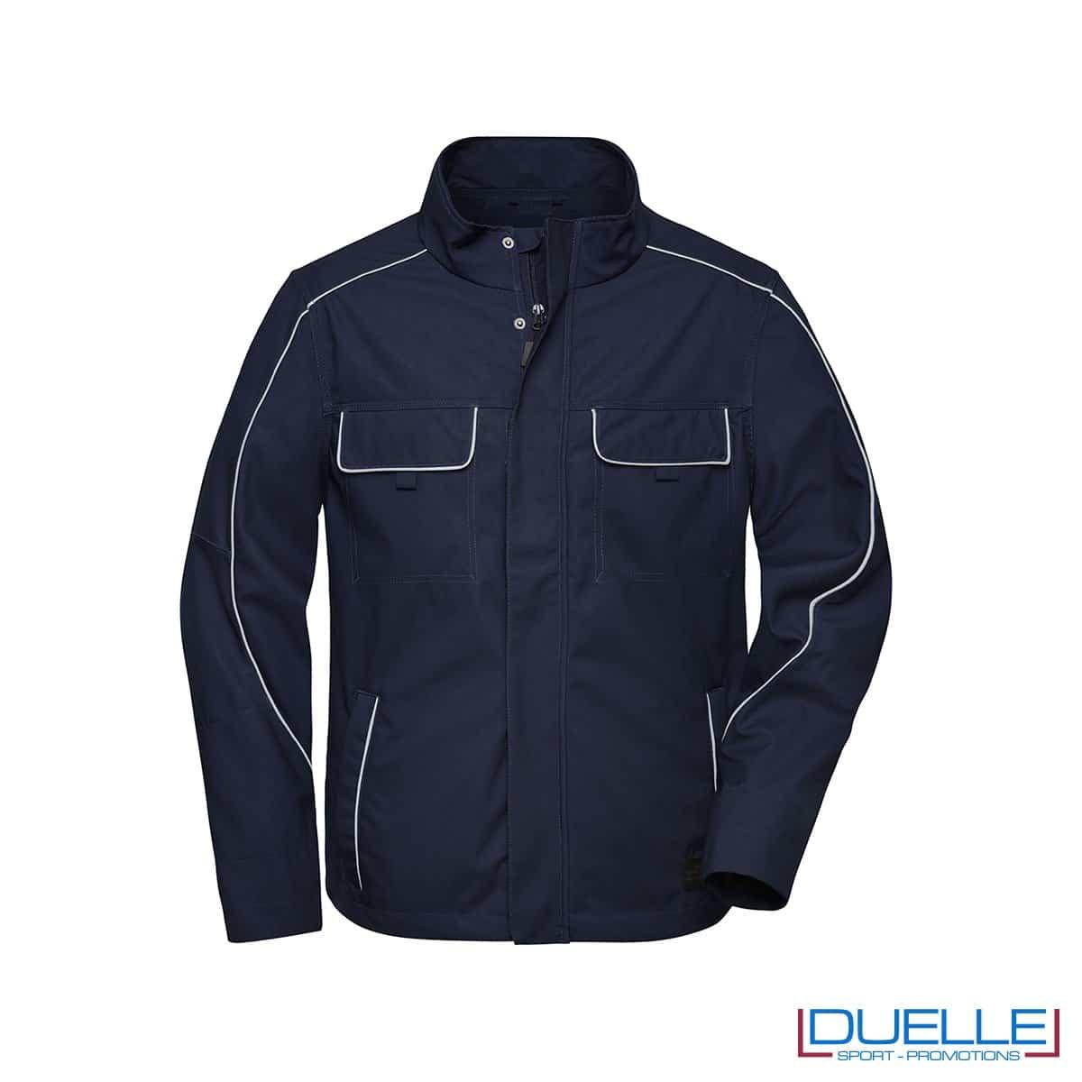 Giacca da lavoro blu navy personalizzata