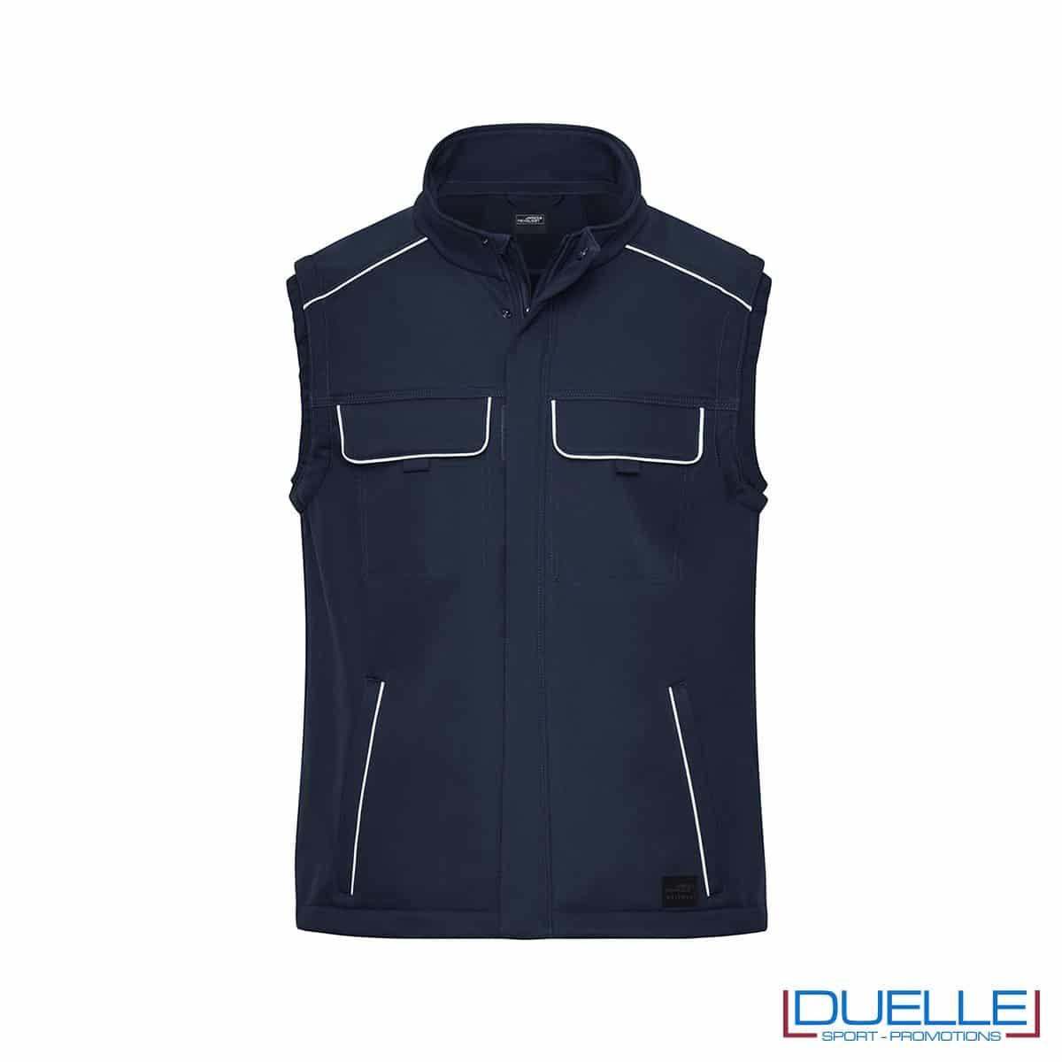 Gilet personalizzato da lavoro in colore blu navy