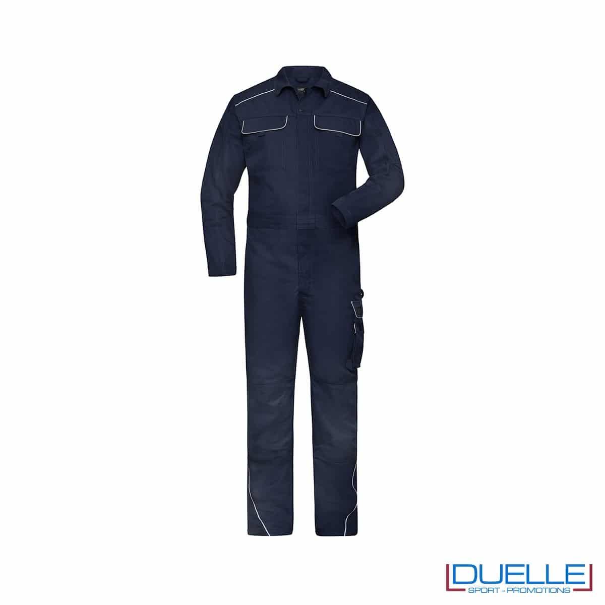tura da lavoro personalizzata in colore blu navy