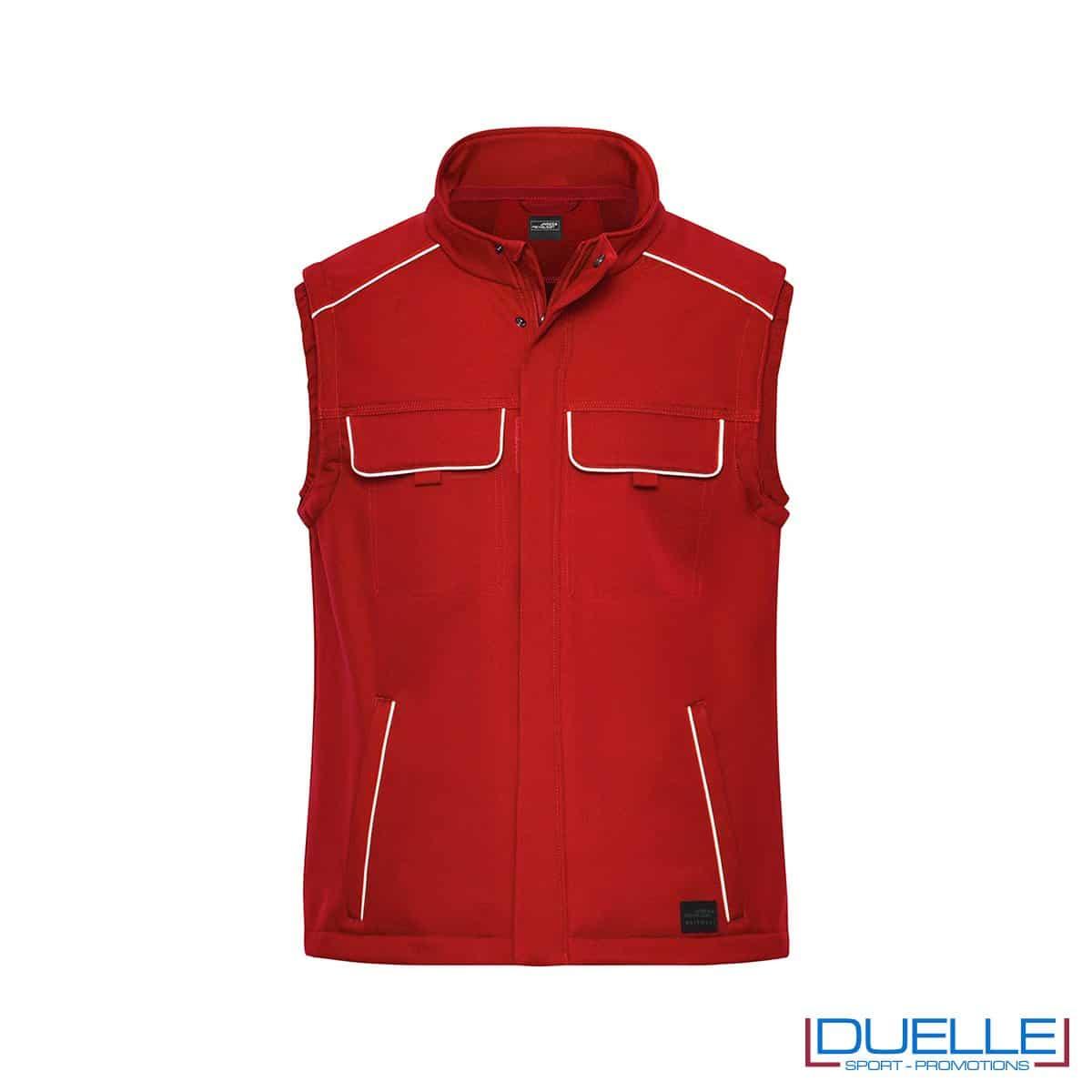 Gilet personalizzato da lavoro in colore rosso