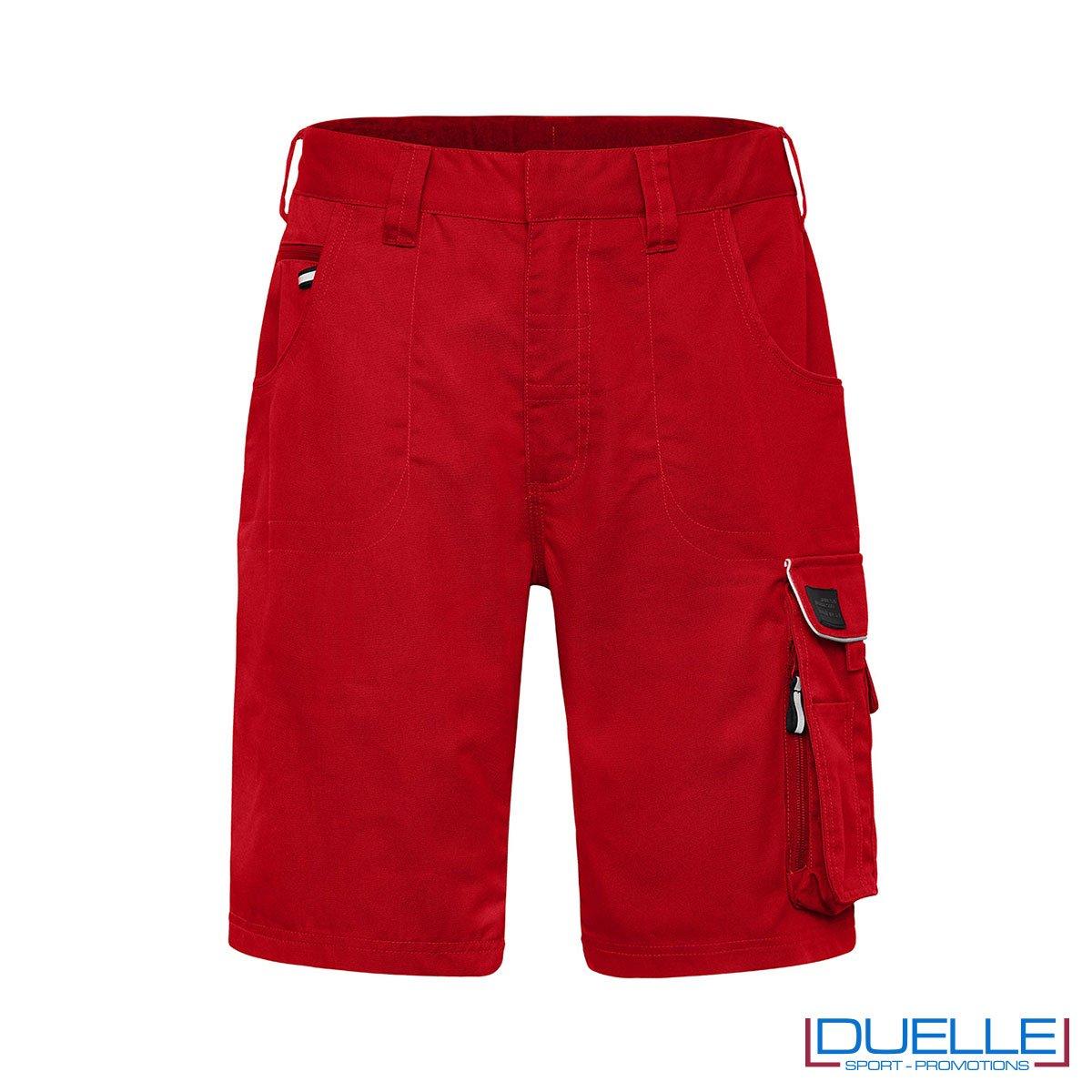Bermuda da lavoro personalizzate in colore rosso