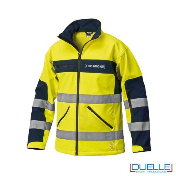 softshell alta visibilità personalizzato in colore giallo