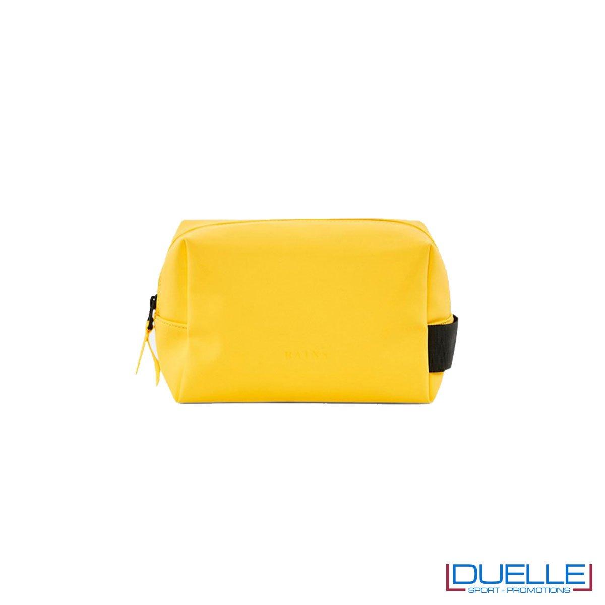 Beauty case personalizzato impermeabile giallo