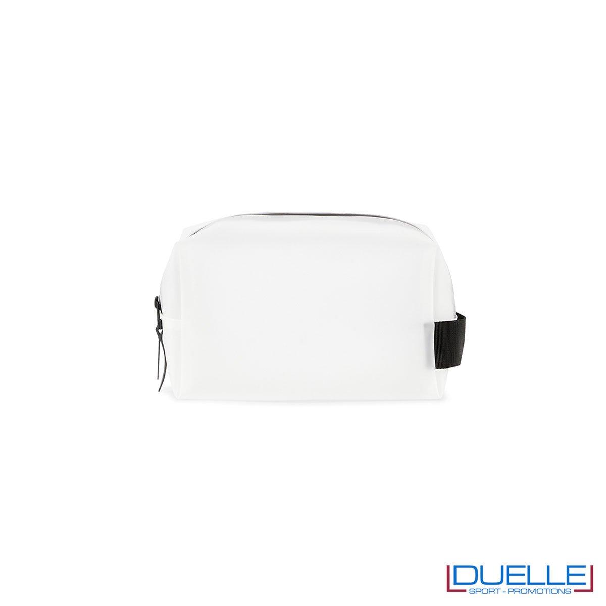 Wash bag rains impermeabile personalizzato bianco