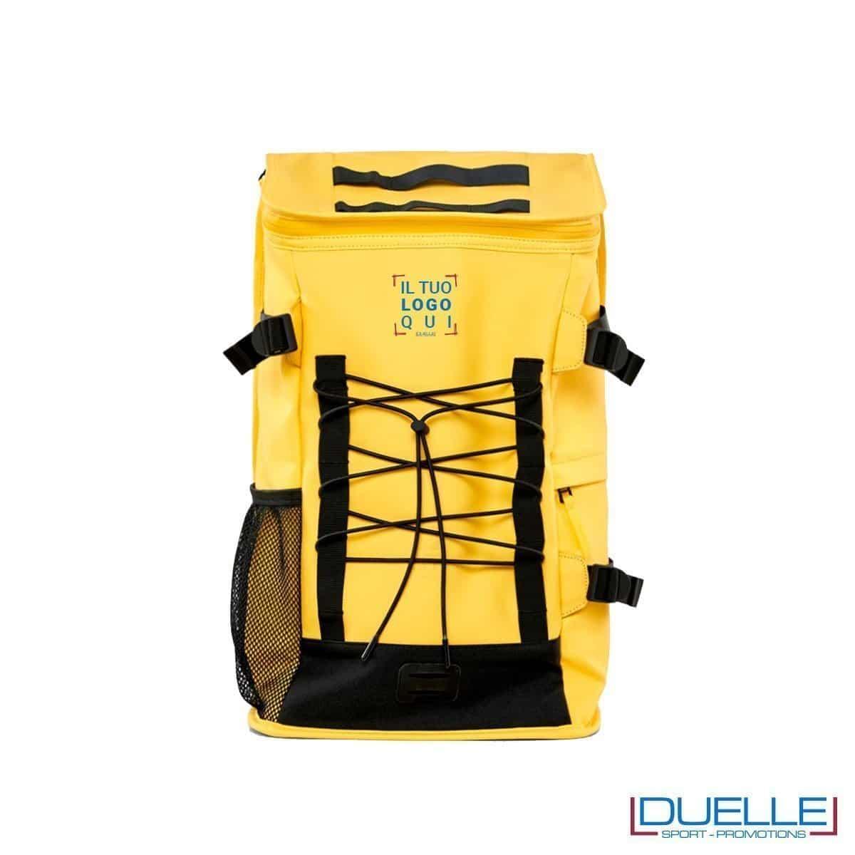 Zaino waterproof personalizzato colore giallo