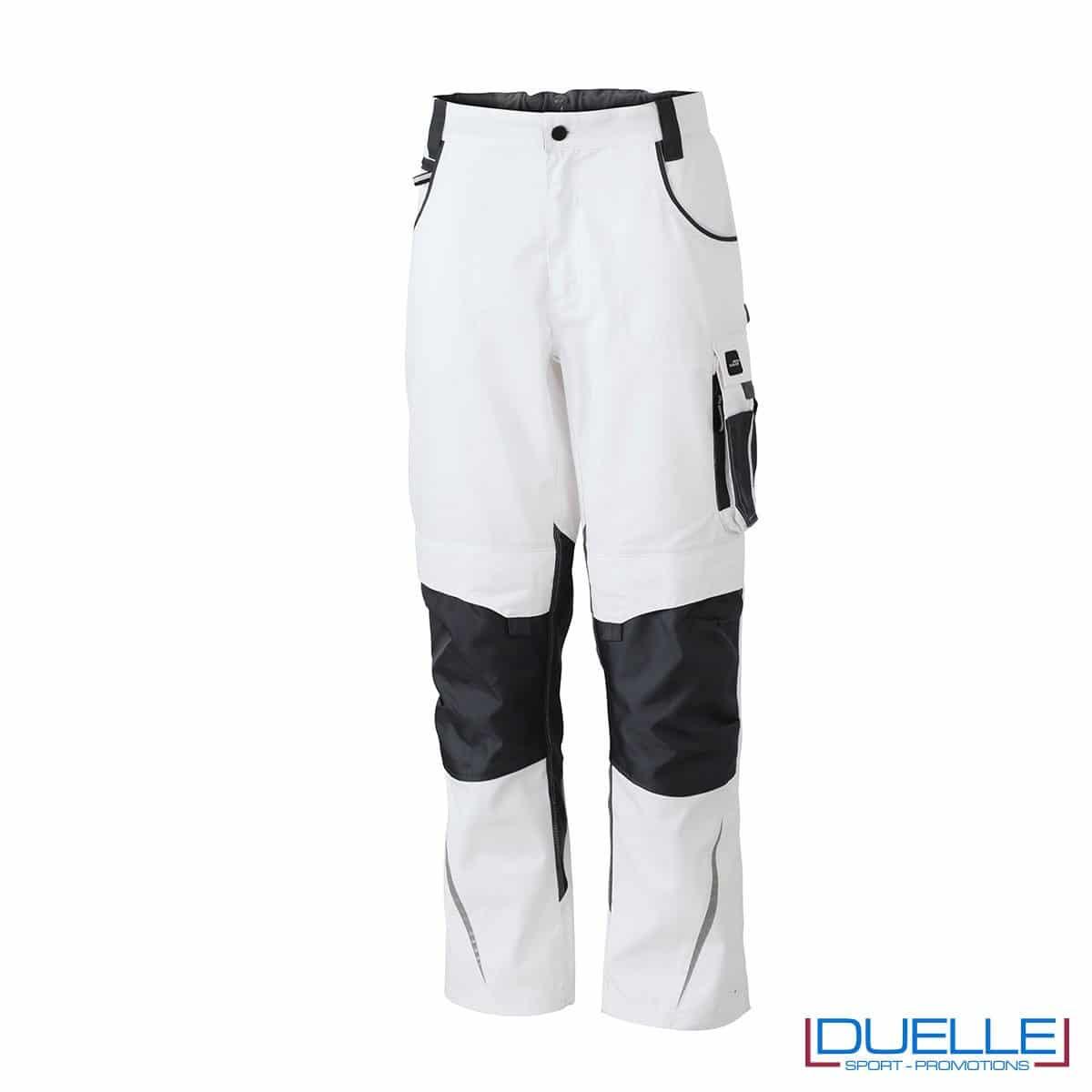 Pantalone da lavoro personalizzato colore bianco