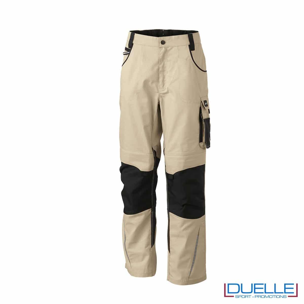 Pantalone da lavoro professionale personalizzato colore beige