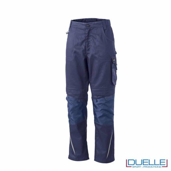 Pantalone da lavoro professionale personalizzato colore blu navy