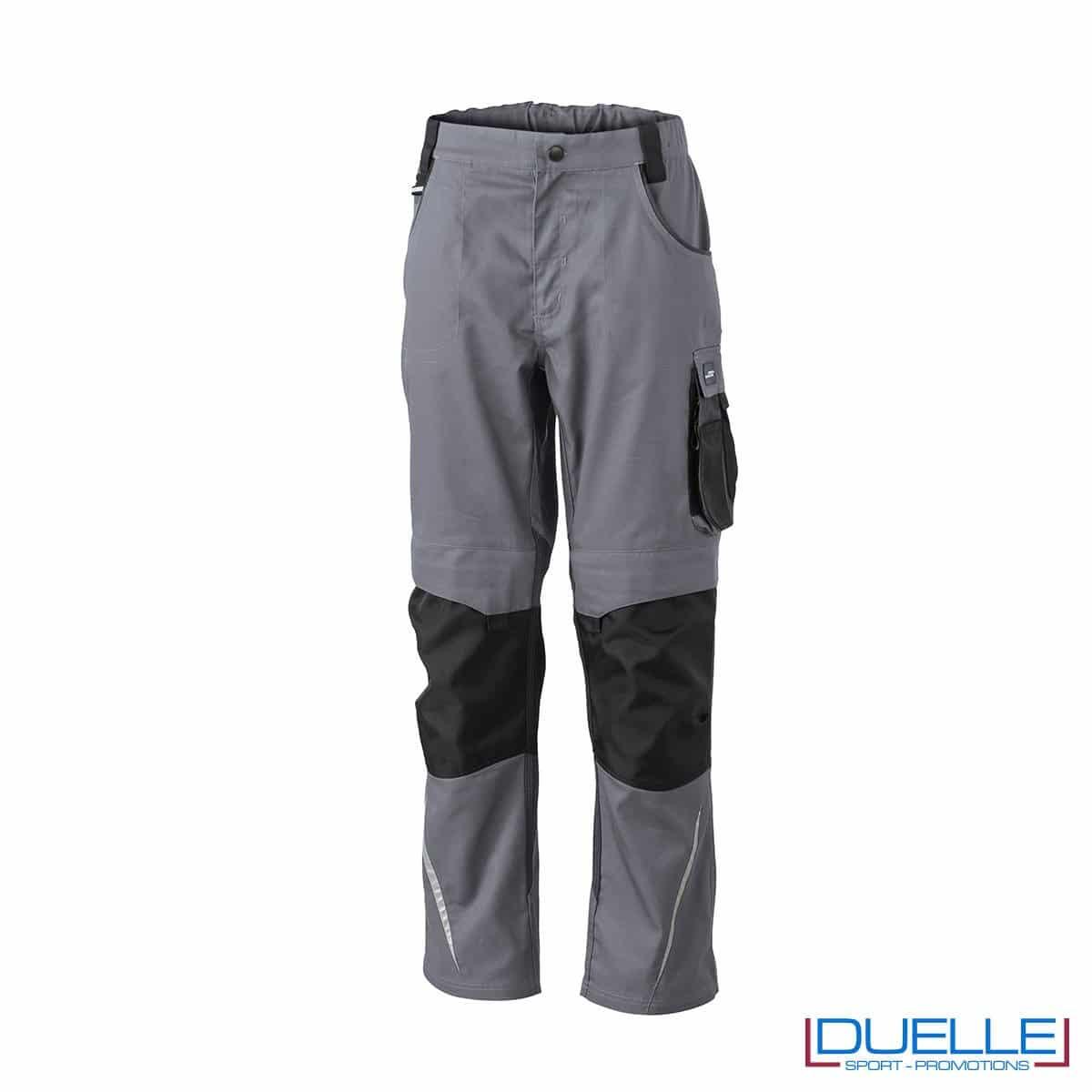 Pantalone professionale personalizzato in colore grigio antracite