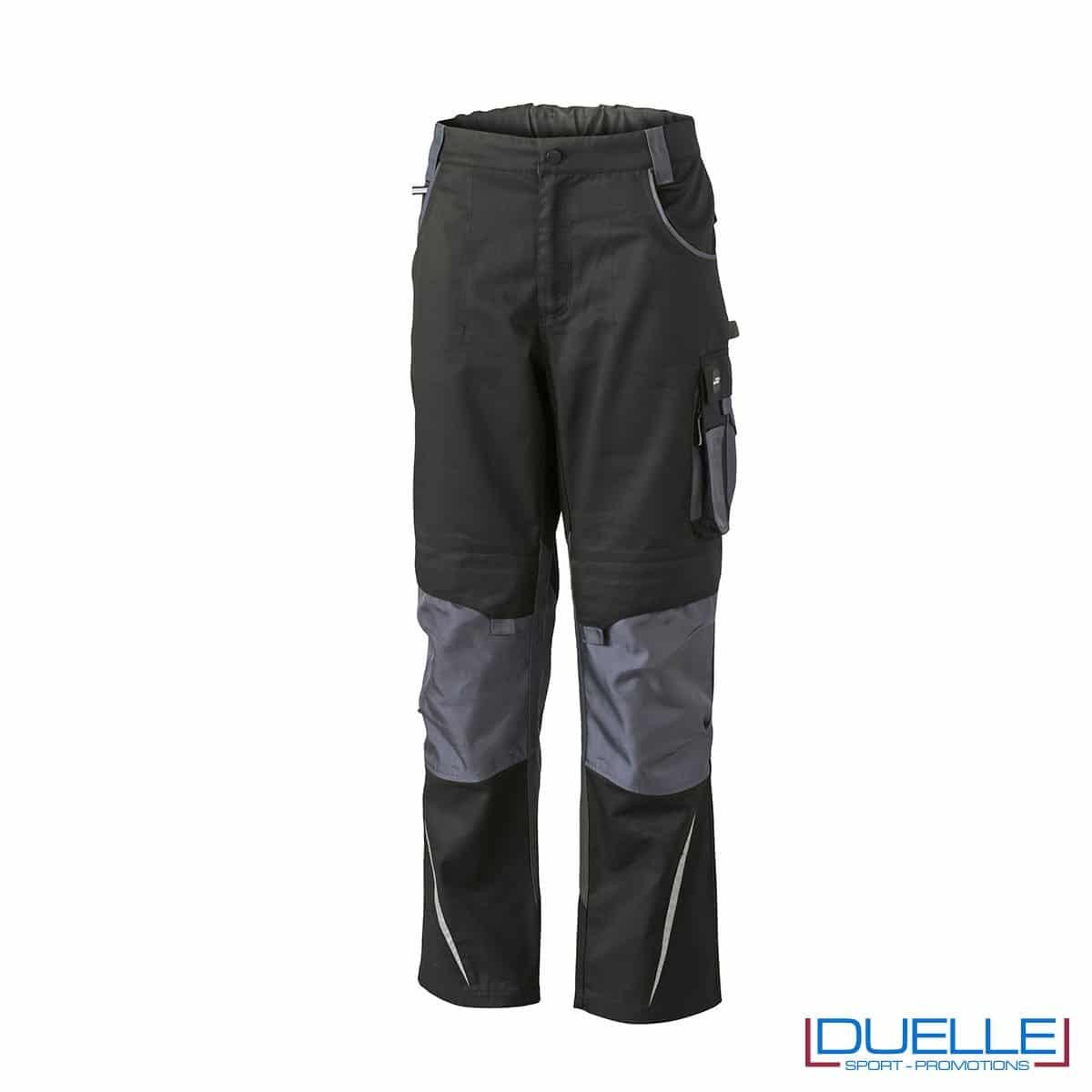 Pantalone da lavoro personalizzato colore nero