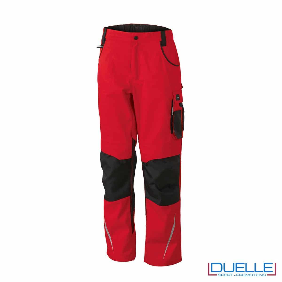 Pantalone professionale personalizzato in colore rosso