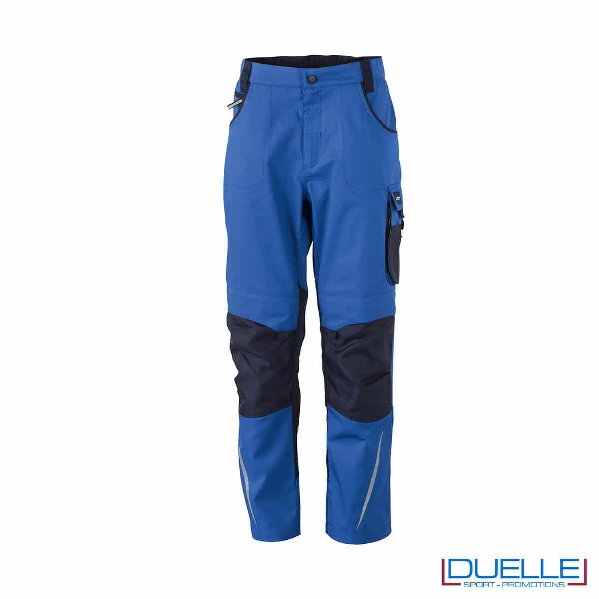 Pantalone da lavoro professionale personalizzato colore blu royal