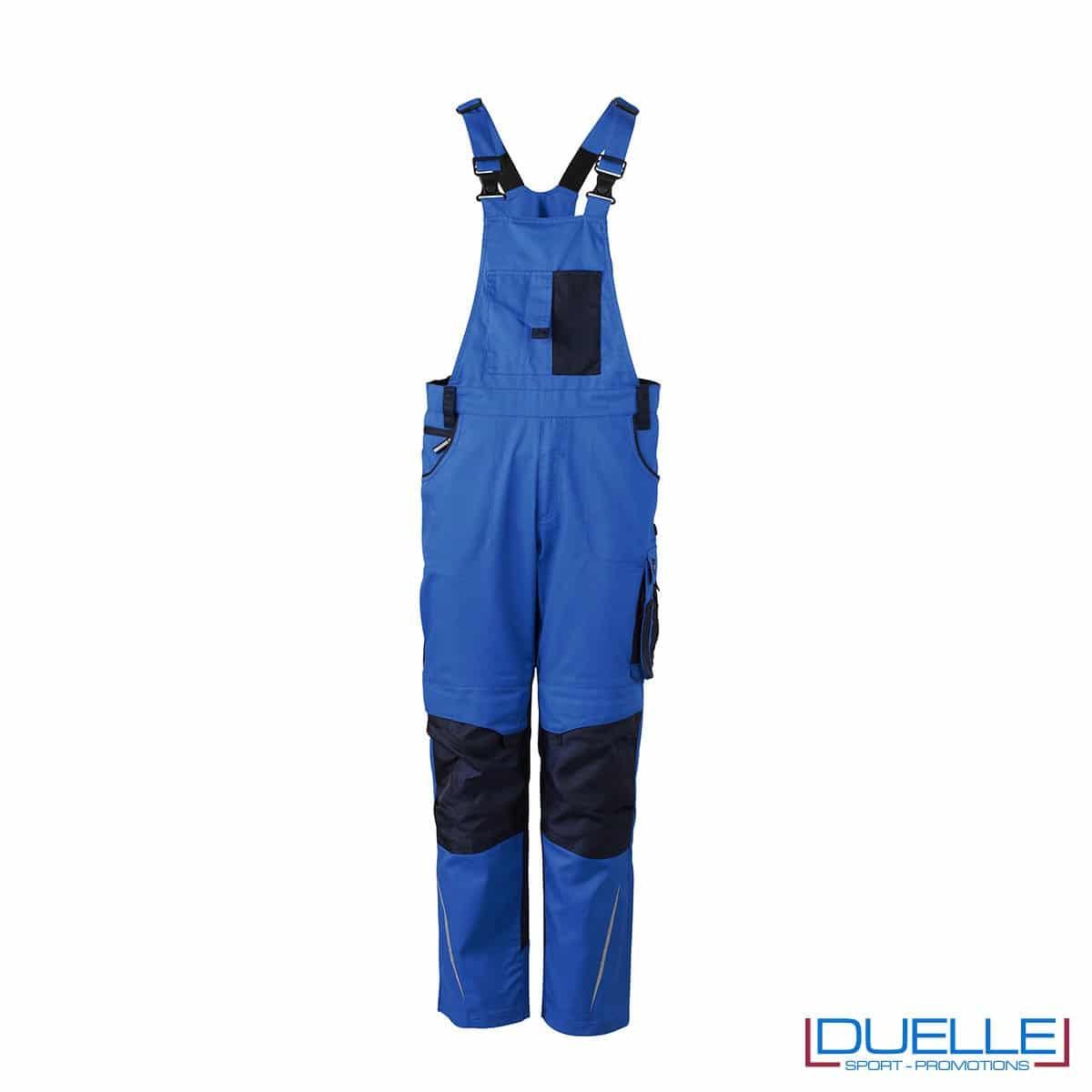 Salopette da lavoro personalizzata in colore blu royal
